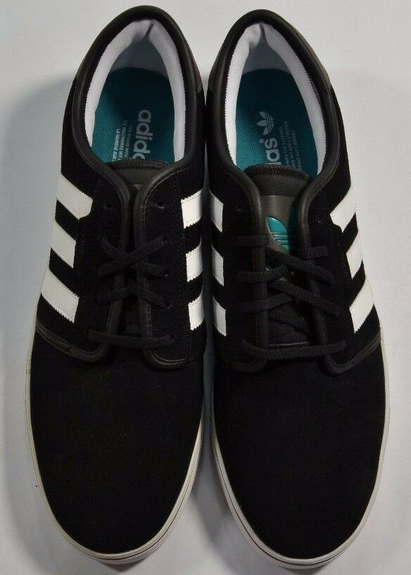 Adidas SEELEY Black Running White Teal Teal White Discounted (210) Men's Shoe's 255401