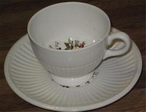 Details About Conway Wedgwood Cup Saucer Ak8384 White W Fl Design England
