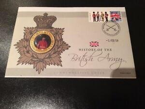 2008 Histoire De L'armée Britannique Gardes Commemorative Cover Rare Cachet Postal-afficher Le Titre D'origine