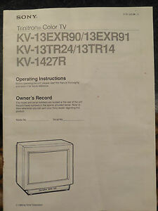sony trinitron color tv manual ebay rh ebay com Sony Trinitron 32 Troubleshooting Sony TV Service Manuals