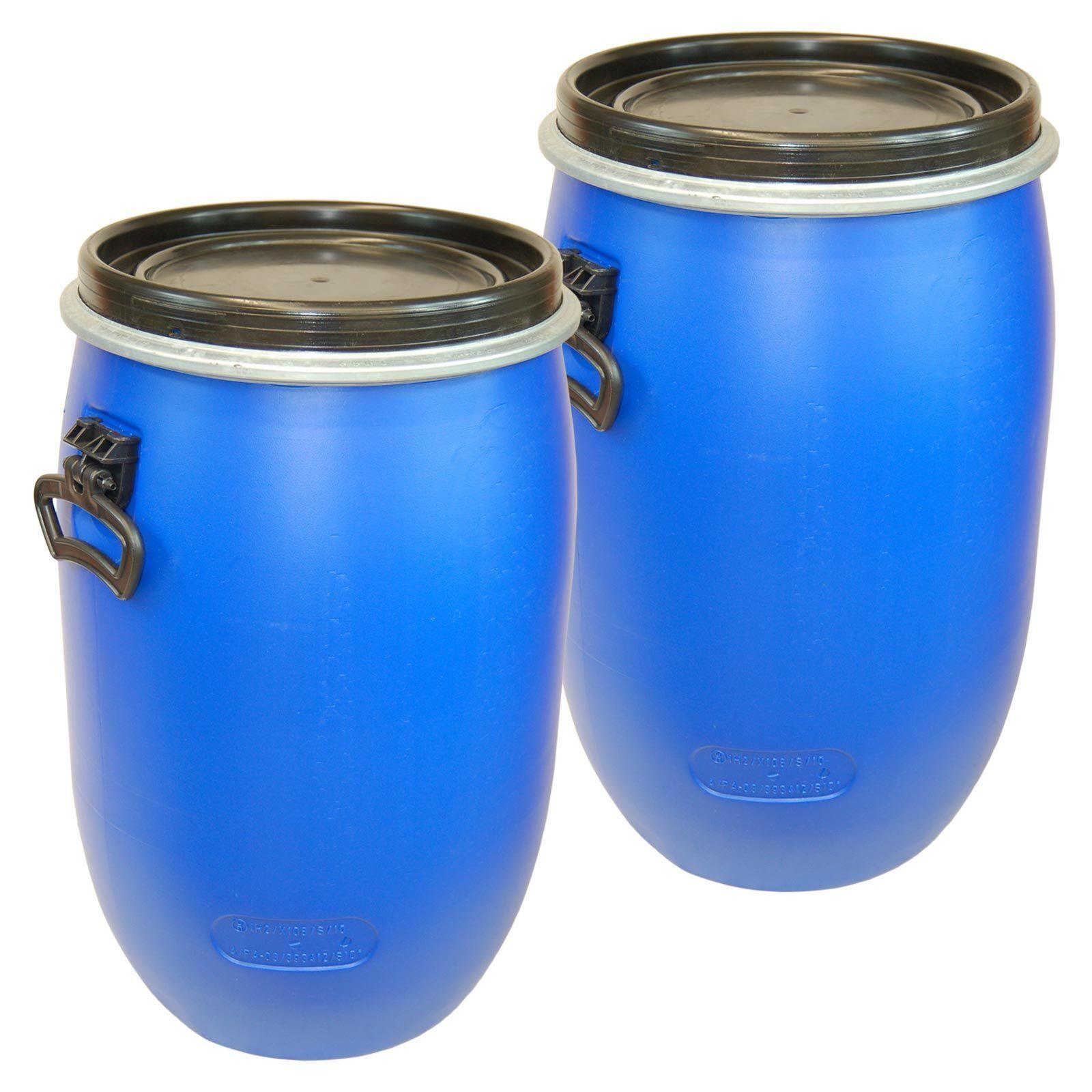 2 x 60 Liter Liter Liter Fass Wasserfass Regenfass Regentonne d416ec