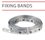 4 TYPES Heavy Fixing Strap Builders Band Contractors Farms /& Fencing