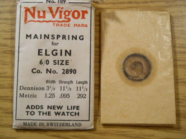 Alloy 451 for Elgin 6//0s No Newall Mainspring No #2890