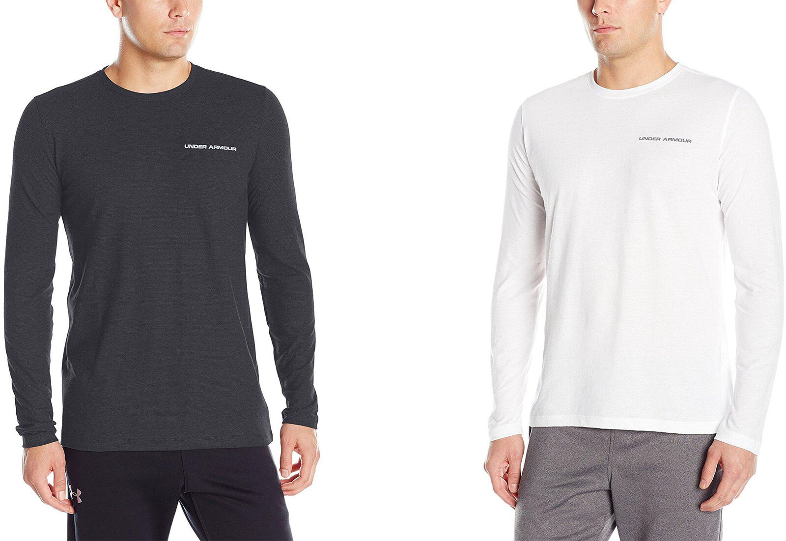 2 Colors Under Armour Men/'s Charged Cotton Long Sleeve T-Shirt