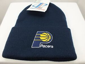 Indiana Pacers NBA cuff Knit Beanie Vintage winter hat New By LOGO 7 ... af7f3c995d6