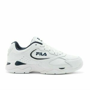 New-Fila-Men-039-s-Tri-Runner-White-Leather-Athletic-Gym-Shoes-Sneakers-Pick-Size