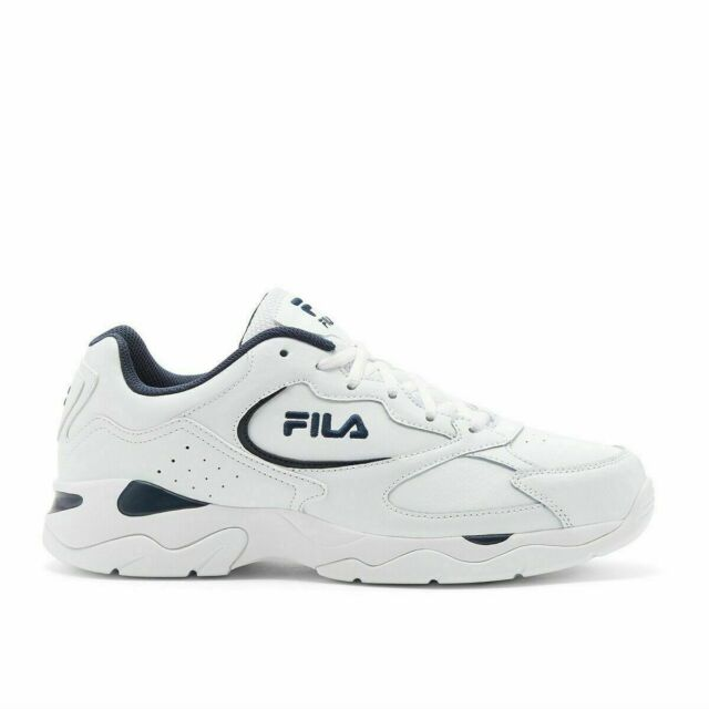 New  Fila Men's Tri Runner White Leather Athletic Gym Shoes Sneakers - Pick Size