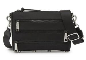 d1839b2e1 NWT REBECCA MINKOFF Solstice Mini 5 Zip Nylon Crossbody Bag Black ...