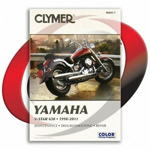 1998 2011 yamaha v star 650 classic repair manual clymer. Black Bedroom Furniture Sets. Home Design Ideas