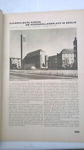 1932 30 Berlin église évangélique Prennent Place/exposition Universelle Chicago-atz / Weltausstellung Chicago Fr-fr Afficher Le Titre D'origine Parfait Dans L'ExéCution