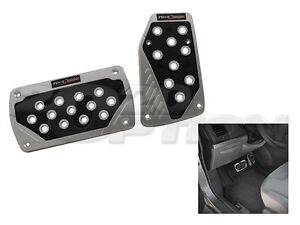 SILVER-BLACK-BRAKE-AUTOMATIC-GAS-PEDAL-PADS-FOR-CROSSFIRE-CHALLENGER-WRANGLER