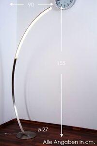Led Lampada A Stelo Piantana Design Moderno Metallo Nichel Opaco