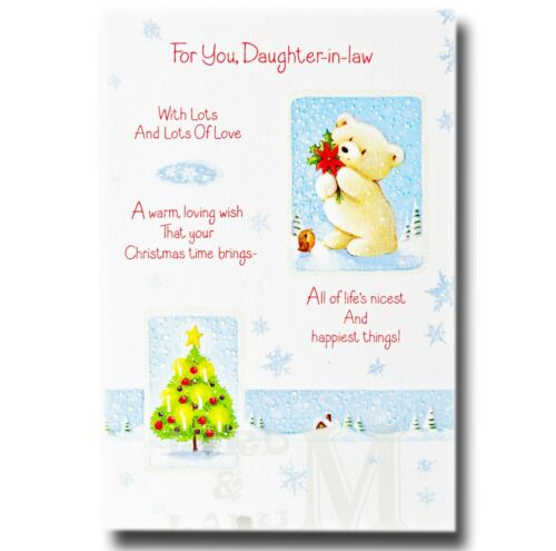Daughter Various Designs Available Daughter-in-Law Christmas Card
