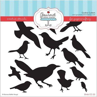 "Gourmet Rubber Stamps Stencil 6""X6"" - Birds"