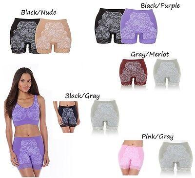 Rhonda Shear 2 Pack Seamless Jacquard Panty Set 400022
