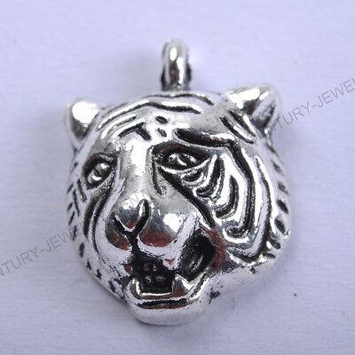 NP118 FREE SHIP Wholesale 10pcs Tibetan Silver tiger Charms Pendants 17X13MM