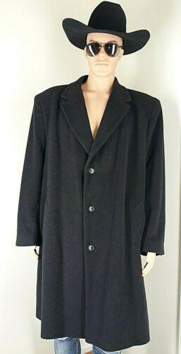 VIRANY Vintage Long Wool Overcoat Men's 50R Dark G