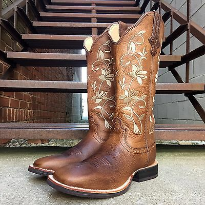 4dc8b89d2fb TWISTED X WOMEN'S FLORAL RUFF STOCK SQUARE TOE COWGIRL BOOTS WRS0025 | eBay