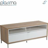 Alphason Chaplin 1135 Tv Stand For Tvs Up To 60 - Oak & White
