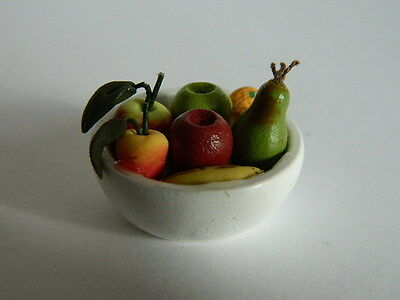 (f1.13) 1/12th Scala Casa Delle Bambole: Cibo Ciotola Di Frutta-mostra Il Titolo Originale