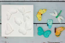 Silicone Mould, Butterflies, Dragonfly, food safe, fondant resin M102