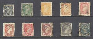 CANADA-SELECTION-OF-SMALL-QUEENS-SCOTT-34-44-USED-BS15993
