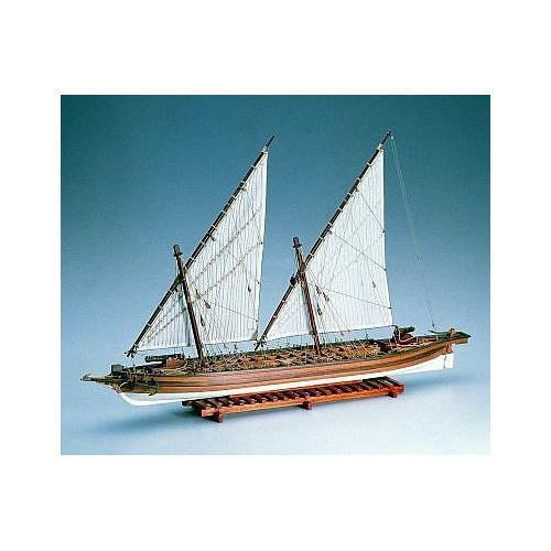Amati Arrow American Gunboat 1 55 Scale  Model Wood Boat Complete Kit 1422
