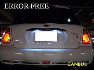 For MINI Cooper S MK1 R50 R52 R53 White LED Number License Plate Lights Lamps