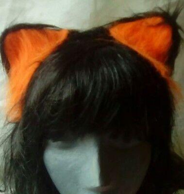 BLACK SEQUIN CAT EARS HEADBAND Animal Pony Ears Christmas Fancy Dress Z31353 UK
