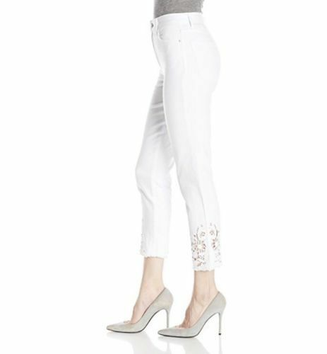 NWT Joes Jeans The Debbie High Rise Straight Cut Out Crop White Jeans Size 25