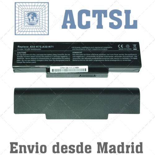 BATERIA para ASUS A72J A32-K72 10.8V  6-cells