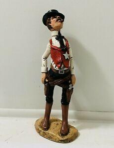 Vtg-Sheriff-Old-West-Cowboy-Statue-Western-Caricature-70-039-s-Chalkware-Figurine