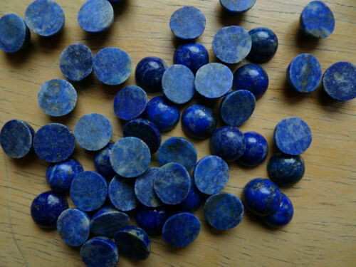 Details about  /Top Quality 12x12 mm Lapis Lazuli Round Cabochon Flat Back Gemstone HP-113