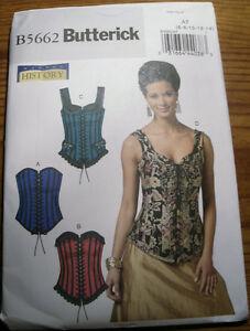 butterick 5662 victorian/goth/steampunk or fashion corset