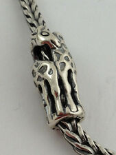 Authentic Trollbeads Sterling Silver Giraffes Bead Charm 11240, New