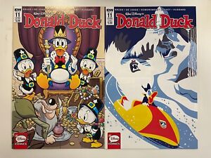 IDW DONALD DUCK #11 (378) : 2 COVERS BUNDLE : REG + SUB : NM CONDITION