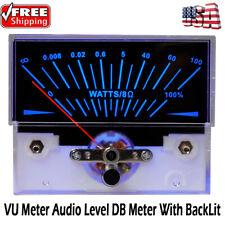 Digital Power Amplifier Panel Analog Vu Meter Audio Level Db Meter With Backlit