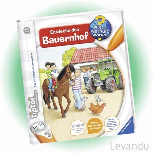 RAVENSBURGER tiptoi® Buch - Wieso Weshalb Warum? - Entdecke den Bauernhof - NEU