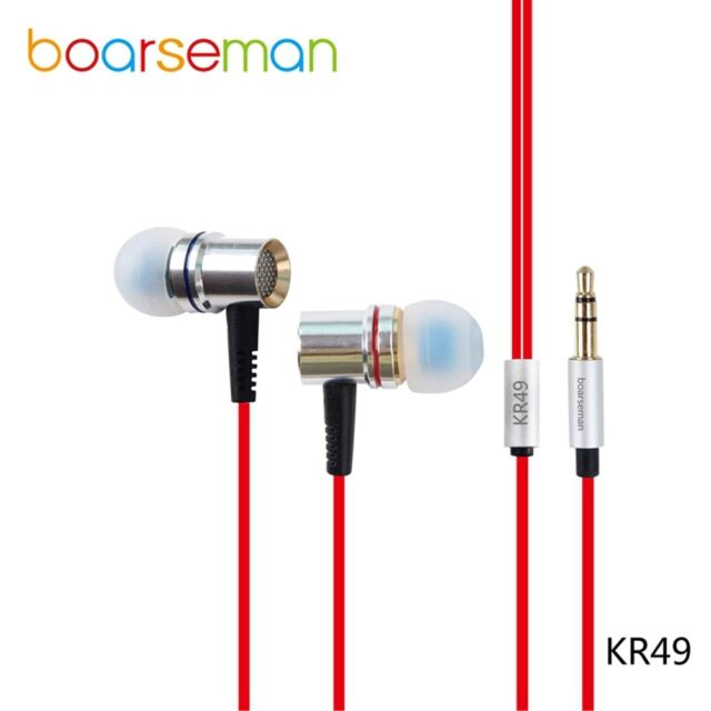 Boarseman KR49 In Ear Earphone DIY Fever HIFI Bass Dynamic Earbuds for iphone 6s
