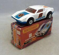 Matchbox Superfast MB8 De Tomaso Pantera with DARK BLUE Base