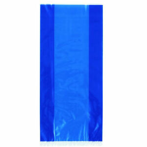 30-Royal-Blue-Cellophane-Gift-Bags-Plastic-Loot-Bag-Party-Birthday-Wedding-Kid