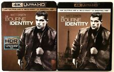 THE BOURNE IDENTIY 4K ULTRA HD UHD BLU RAY 2 DISC SET + SLIPCOVER SLEEVE