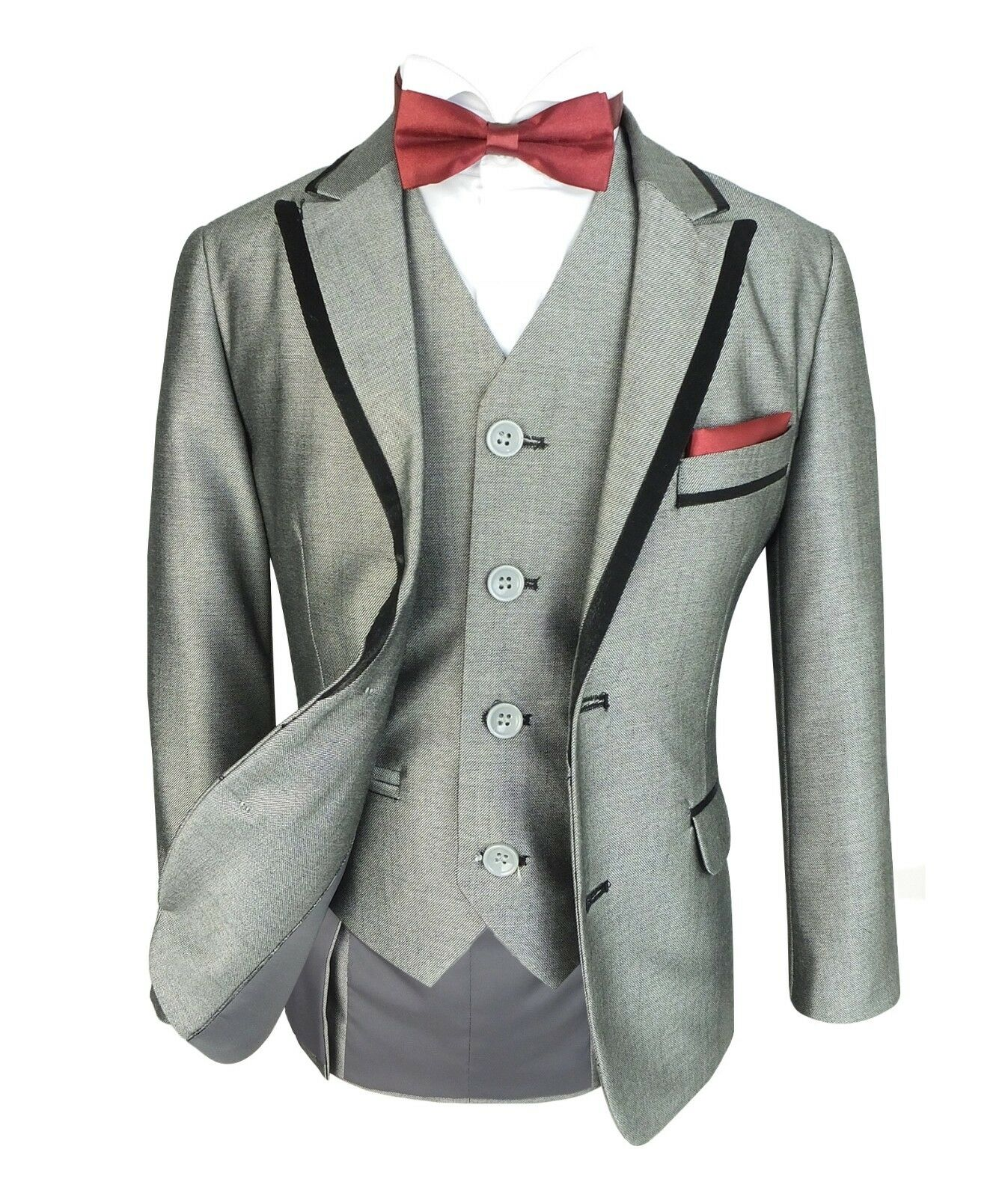 487b99ecdfb7 Boys Formal Tuxedo Dinner Suit in Light Grey Kids Pageboy Wedding ...