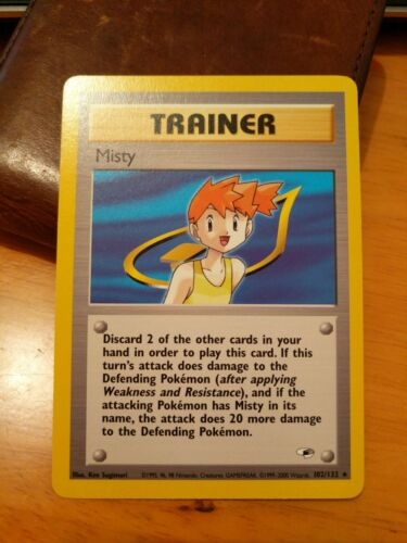 NON-Holographic Rare Pokemon Card LP Misty 102//132 Gym Heroes Unlimited