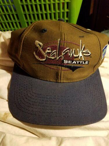 Vintage SEATTLE SEAHAWKS BROWN Baseball CaP Hat