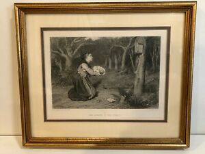 W-Q-Orchardson-A-R-A-034-The-Shrine-in-the-Forest-034-Etching-Print-Framed