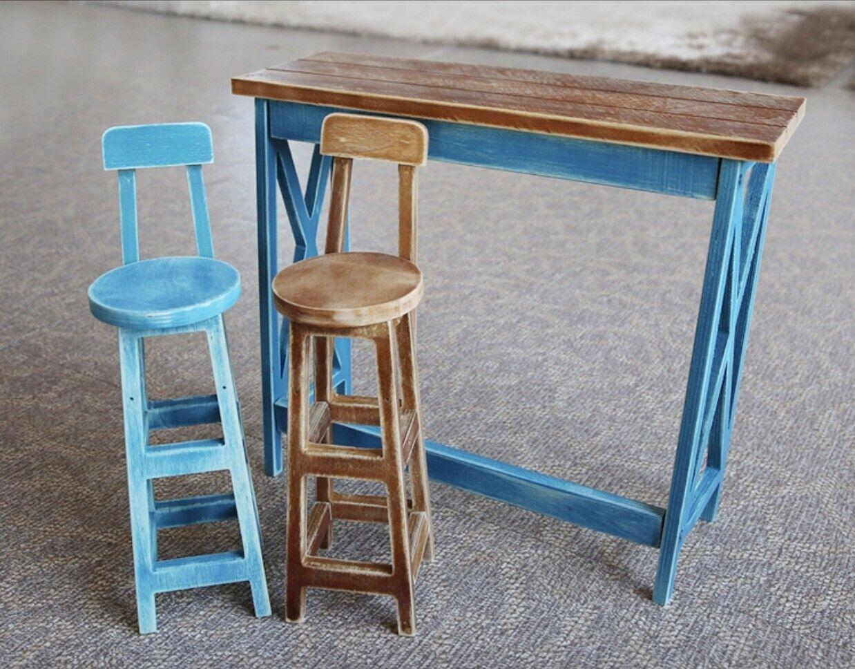 Mini Mesa De Madera Para Muebles taburetes para 1 3 60cm 70cm SD SD17 BJD MSD LUTS dk Nuevo