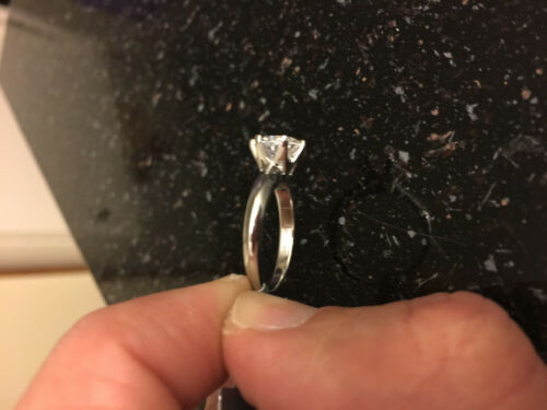 0.5 CT ROUND CUT DIAMOND SOLITAIRE ENGAGEMENT RING WHITE GOLD Finish Size 9