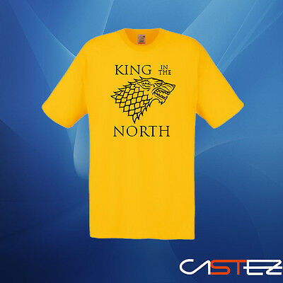 Camiseta king in the north juego de tronos jon nieve sonw  (ENVIO 24/48h)