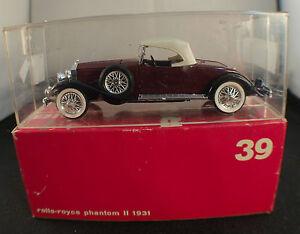 """Rio N°39 Rolls Royce Phantom II 1931 1/43 En boîte/ Boxed - France - État : Occasion : Objet ayant été utilisé. Consulter la description du vendeur pour avoir plus de détails sur les éventuelles imperfections. Commentaires du vendeur : """"Voir photos / see pictures"""" - France"""